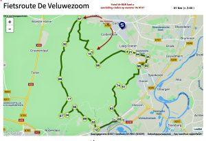Fietsroute B&B Veluwezoom Bosranda
